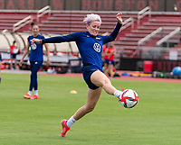 HOUSTON, TX - JUNE 8: Megan Rapinoe #15 of the USWNT takes a shot during a training session at the University of Houston on June 8, 2021 in Houston, Texas.