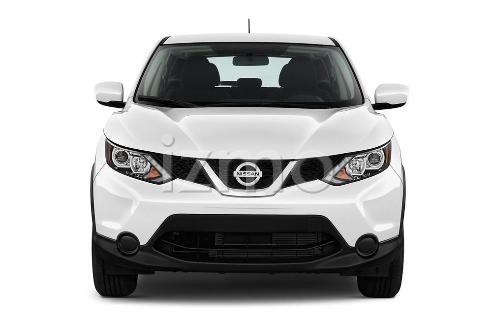 Car photography straight front view of a 2018 Nissan Rogue Sport S 4WD 5 Door SUV