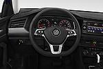 Car pictures of steering wheel view of a 2019 Volkswagen Jetta S 4 Door Sedan