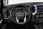 Car pictures of steering wheel view of a 2019 GMC Sierra 1500 SLT 4 Door Pick Up