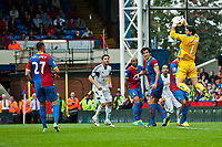 Sun 22 September 2013<br /> <br /> Pictured: Juli?n Speroni of Crystal Palace saves a Swansea shot<br /> <br /> Re: Barclays Premier League Crystal Palace FC  v Swansea City FC  at Selhurst Park, London