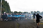St Johnstone v Galatasaray…12.08.21  McDiarmid Park Europa League Qualifier<br />St Johnstone fans march into McDiarmid Park ahead of tonight's game against Galatasaray<br />Picture by Graeme Hart.<br />Copyright Perthshire Picture Agency<br />Tel: 01738 623350  Mobile: 07990 594431