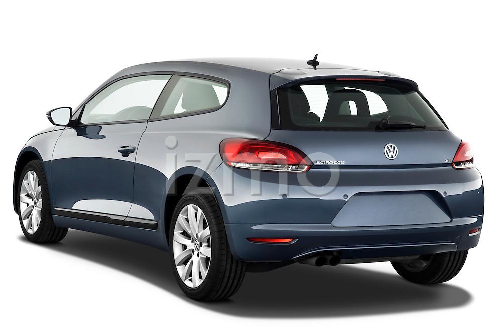 Rear three quarter view of a 2009 Volkswagen Scirocco