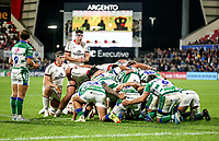 Friday 8th October 2021<br /> <br /> Matty Rea and David McCann during the URC Round 3 clash between Ulster Rugby and Benetton Rugby at Kingspan Stadium, Ravenhill Park, Belfast, Northern Ireland. Photo by John Dickson/Dicksondigital