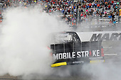 NASCAR Camping World Truck Series <br /> Texas Roadhouse 200<br /> Martinsville Speedway, Martinsville VA USA<br /> Saturday 28 October 2017<br /> Noah Gragson, Switch Toyota Tundra, Celebrates after winning the Texas Roadhouse 200 at Martinsville Speedway. <br /> World Copyright: John K Harrelson/LAT Images