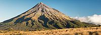 Portrait of Taranaki, Mount Egmont, Egmont National Park, North Island, New Zealand, NZ