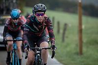 Alice Barnes (GBR/Canyon Sram Racing) ascending the Côte de Brume. <br /> <br /> 3th Liège-Bastogne-Liège-Femmes 2019 (1.WWT)<br /> 1 Day Race: Bastogne – Liège 138,5km<br /> <br /> ©kramon