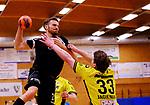 Deutschland - Sport<br /> Handball - Aufstiegsrunde zur 2. Bundesliga<br /> TuS Dansenberg (dan) - HSG Krefeld Niederrhein (kref) 24:21<br /> Jan CLAUSSEN (TuS Dansenberg), li - Lars JAGIENIAK (kref)<br /> <br /> Foto © PIX-Sportfotos *** Foto ist honorarpflichtig! *** Auf Anfrage in hoeherer Qualitaet/Aufloesung. Belegexemplar erbeten. Veroeffentlichung ausschliesslich fuer journalistisch-publizistische Zwecke. For editorial use only.