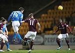 St Johnstone v Hearts…05.04.17     SPFL    McDiarmid Park<br />Joe Shaughnessy scores<br />Picture by Graeme Hart.<br />Copyright Perthshire Picture Agency<br />Tel: 01738 623350  Mobile: 07990 594431