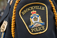 Brockville Police badge is seen during a police memorial parade in Ottawa Sunday September 26, 2010.