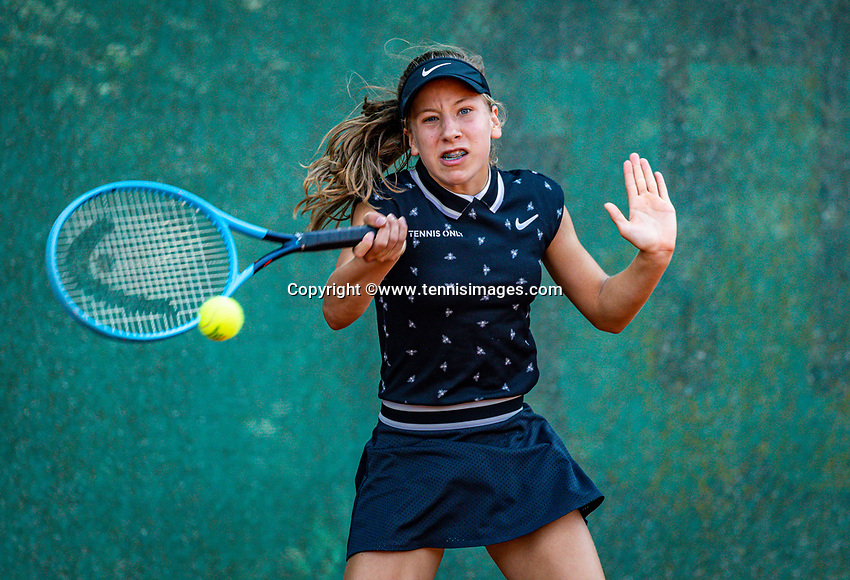 Hilversum, Netherlands, Juli 29, 2019, Tulip Tennis center, National Junior Tennis Championships 12 and 14 years, NJK, Isis van den Broek (NED)<br /> Photo: Tennisimages/Henk Koster