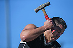"Tobin Rupert drills 8-19/32"" in the annual Nevada Day rock drilling competition in Carson City, Nev. on Saturday, Oct. 29, 2016. <br /> Photo by Cathleen Allison"