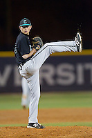 Coastal Carolina Chanticleers relief pitcher Brock Hunter (42) in action against the High Point Panthers at Willard Stadium on March 15, 2014 in High Point, North Carolina.  The Panthers defeated the Chanticleers 11-8 in game two of a double-header.  (Brian Westerholt/Four Seam Images)