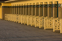 France, Calvados (14), Côte Fleurie, Deauville, la plage, et la Promenade des Planches en souvenir des réalisateurs et acteurs de cinéma // France, Calvados, Cote Fleurie, Deauville, the beach and  Promenade des Planches (stage walk) in honour of the cinema directors and actors