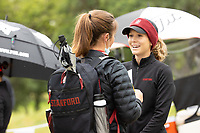 STANFORD, CA - APRIL 25: Rebecca Becht, Rachel Heck at Stanford Golf Course on April 25, 2021 in Stanford, California.