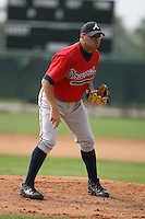 March 23rd 2008:  Steve Figueroa of the Atlanta Braves minor league system during Spring Training at Disney's Wide World of Sports in Orlando, FL.  Photo by:  Mike Janes/Four Seam Images