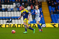 Saturday 25 January 2014<br /> Pictured: ?lvaro Vazquez makes a run with the ball <br /> Re: Birmingham City v Swansea City FA Cup fourth round match at St. Andrew's Birimingham