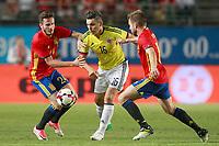 Spain's Saul Niguez (l) and Asier Illarramendi (r) and Colombia's Daniel Torres during international friendly match. June 7,2017.(ALTERPHOTOS/Acero) (NortePhoto.com) (NortePhoto.com)