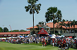 SINGAPORE - MARCH 08:  General view of the par four 18th hole during the final round of HSBC Women's Champions at the Tanah Merah Country Club on March 8, 2009 in Singapore.  Photo by Victor Fraile / The Power of Sport Images