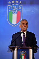 ROME, ITALY - FEBRUARY 22:  FIGC President Gabriele Gravina attends the FIGC Elective Assembly at Cavalieri Waldorf Astoria Hotel on February 21, 2021 in Rome, Italy.  <br /> Photo Marco Rosi / FIGC / Insidefoto