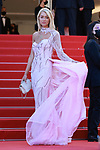 """Cannes Film Festival 2021. 74th edition of the 'Festival International du Film de Cannes' under Covid-19 outbreak on 14/07/2021 in Cannes, France. Guests for the screening of the film """"A Felesegem Tortenete"""" (The Story Of My Wife)<br /> Angelina Kali"""