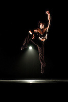 Barrington Lohr performs during Nevada Ballet Theatre's production of 'Brave New World' in Las Vegas, NV.