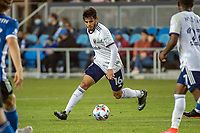 SAN JOSE, CA - MAY 01: Adrien Perez #16 of DC United controls the ball during a game between San Jose Earthquakes and D.C. United at PayPal Park on May 01, 2021 in San Jose, California.