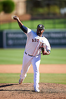 Glendale Desert Dogs pitcher Rogelio Armenteros (47), of the Houston Astros organization, during a game against the Mesa Solar Sox on October 20, 2016 at Camelback Ranch in Glendale, Arizona.  Glendale defeated Mesa 3-2.  (Mike Janes/Four Seam Images)