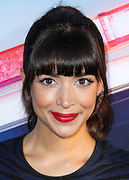 """HOLLYWOOD, LOS ANGELES, CA, USA - AUGUST 07: Hannah Simone at the Los Angeles Premiere Of 20th Century Fox's """"Let's Be Cops"""" held at ArcLight Cinemas Cinerama Dome on August 7, 2014 in Hollywood, Los Angeles, California, United States. (Photo by Xavier Collin/Celebrity Monitor)"""