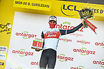 Edward Theuns (BEL) Trek-Segafredo wins the days combativity prize at the end of Stage 2 of the 2021 Tour de France, running 183.5km from Perros-Guirec to Mur-de-Bretagne Guerledan, France. 27th June 2021.  <br /> Picture: A.S.O./Charly Lopez   Cyclefile<br /> <br /> All photos usage must carry mandatory copyright credit (© Cyclefile   A.S.O./Charly Lopez)