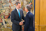 King Felipe VI of Spain attends audience with the President of Argentina Mauricio Macri in Madrid. 3 December 2019. (Alterphotos/Francis Gonzalez)