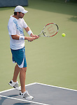 Mardy Fish defeats Philipp Petchner at the Legg Mason Tennis Classic in Washington, D.C.