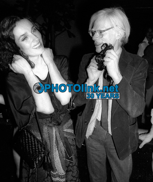 1978 FILE PHOTO<br /> New York City<br /> Margaret Trudeau Andy Warhol/Studio 54<br /> Photo by Adam Scull-PHOTOlink.net