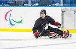 Sochi, RUSSIA - Mar 2 2014 -  Adam Dixon practices before the 2014 Paralympics in Sochi, Russia.  (Photo: Matthew Murnaghan/Canadian Paralympic Committee)