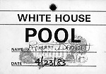 White House Press POOL Pass, Fine Art Photography by Ron Bennett, Fine Art, Fine Art photography, Art Photography, Copyright RonBennettPhotography.com ©
