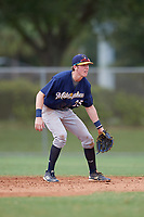 Jake Berger (25) during the WWBA World Championship at the Roger Dean Complex on October 11, 2019 in Jupiter, Florida.  Jake Berger attends Buckingham Browne Nichols High School in Boston, MA and is committed to Harvard.  (Mike Janes/Four Seam Images)