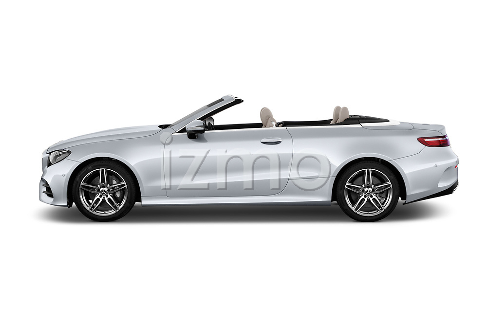 Car driver side profile view of a 2018 Mercedes Benz E Class Base 2 Door Convertible