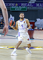 13th October 2021; Wizink Center; Madrid, Spain; Turkish Airlines Euroleague Basketball; game 3; Real Madrid versus AS Monaco; Nigel Williams-Goss (Real Madrid Baloncesto) looks to pass outside during the match