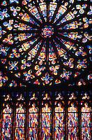 Europe/France/Bretagne/35/Ille-et-Vilaine/Saint-Malo: Détail Vitrail de l'église St Vincent
