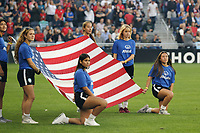 Saint Paul, MN - Tuesday September 03, 2019 : US Flag prior to the USWNT 2019 Victory Tour match versus Portugal at Allianz Field, on September 03, 2019 in Saint Paul, Minnesota.