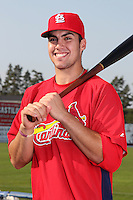 Batavia Muckdogs catcher Geoff Klein poses for a photo in a Cardinals uniform before a game vs. the State College Spikes at Dwyer Stadium in Batavia, New York July 17, 2010.   Batavia defeated State College 12-11 in 11 innings.  Photo By Mike Janes/Four Seam Images