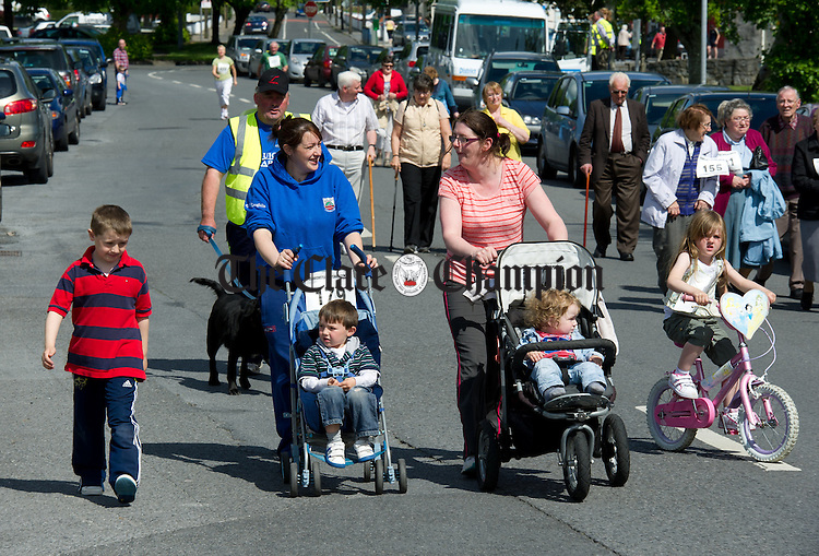 Participants taking off at the start of a scenic walk, run and jog in aid of the District Daycare Centre at Clarecastle. Photograph by John Kelly.