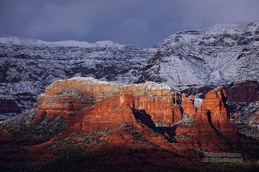 Winter View from Airport Mesa, Sedona, Arizona