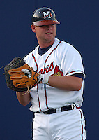 19 April 2005: Catcher Brian McCann of the Mississippi Braves, Class AA affiliate of the Atlanta Braves, taken at Trustmark Park in Pearl, Mississippi. Photo by Tom Priddy (Tom Priddy/Four Seam Images)