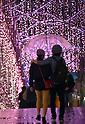 Christmas lights switched on at Tokyo's Shinjuku Terrace City