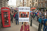 "The ""Put it to the People"" rally makes it's way through central London today. Demonstrators from across the country gathered to call for a second referendum on Brexit and to march through the UK capital finishing with speeches in Parliament Square opposite the Houses of Parliament in Westminster."