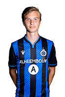 20th August 2020, Brugge, Belgium;  Christiaan Ravich pictured during the team photo shoot of Club Brugge NXT prior the Proximus league football season 2020 - 2021 at the Belfius Base camp