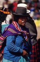 Amérique/Amérique du Sud/Pérou/Pisac : Le marché - Portrait d'une indienne