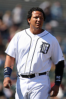 March 5, 2010:  First Baseman Miguel Cabrera of the Detroit Tigers during a Spring Training game at Joker Marchant Stadium in Lakeland, FL.  Photo By Mike Janes/Four Seam Images