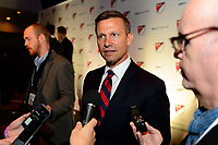 Philadelphia, PA - Friday January 19, 2018: Jesse Marsch during the 2018 MLS SuperDraft at the Pennsylvania Convention Center.